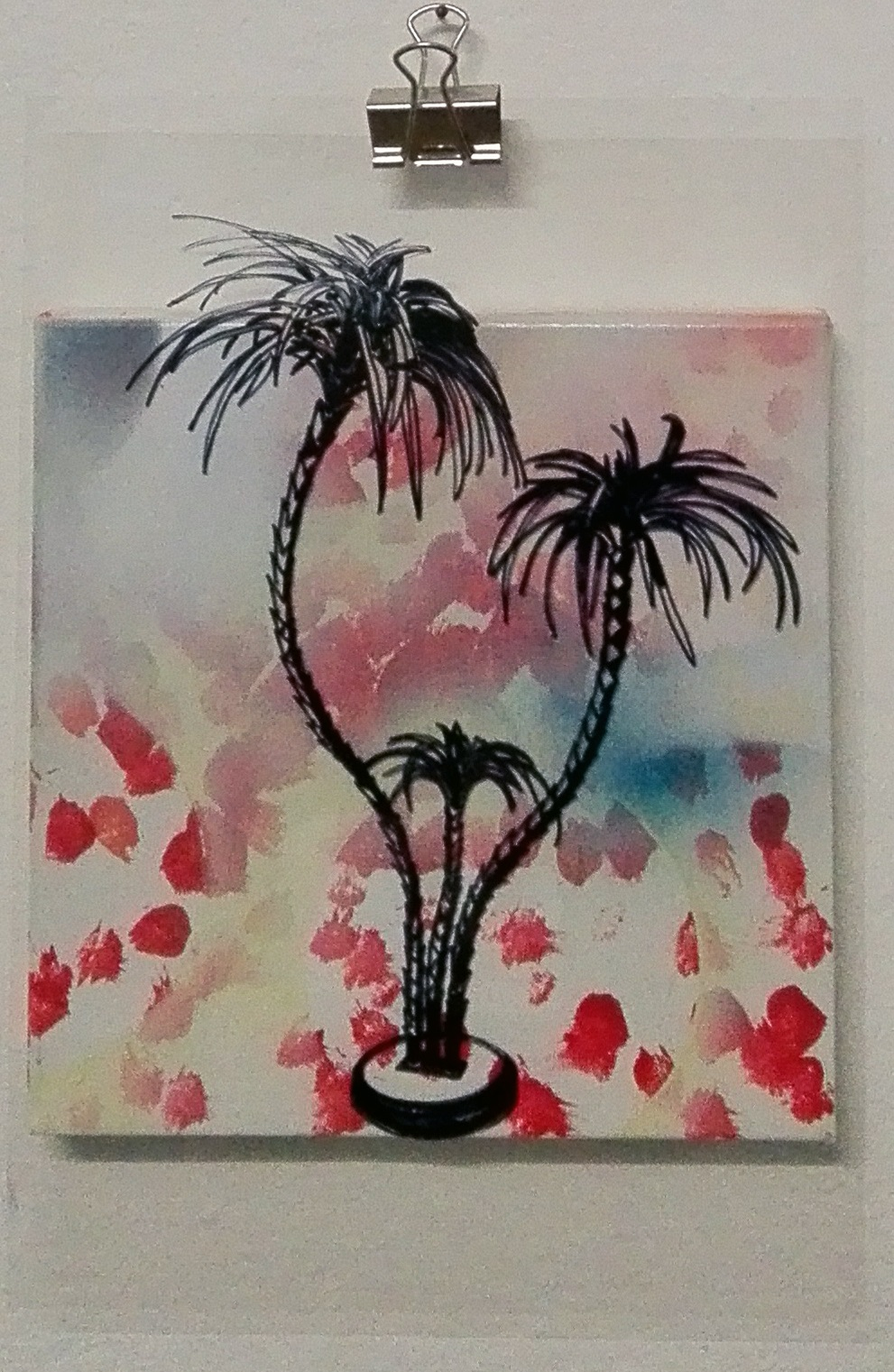 Michael Rotondi, Palm, Mixed Media On Canvas,  20x20 Cm., 2016